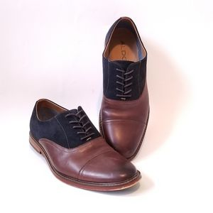 Aldo Oxford style Leather & Suede Shoes Size 9.5